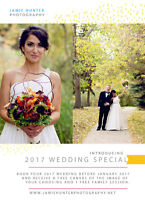 2017 Wedding Photography Special! Book early, get bonuses!