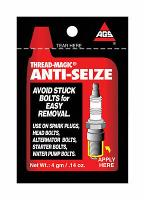 - AGS Thread-Magic Anti Seize Lubricant 0.14 oz For Spark Plugs and Many Bolts