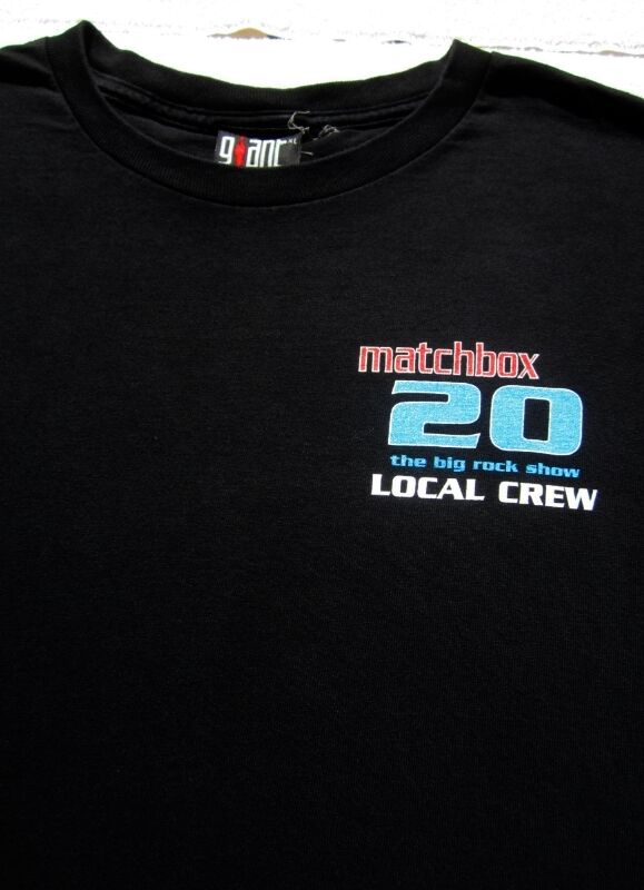 MATCHBOX 20 big rock show LOCAL CREW 1998 tour XL T-SHIRT concert