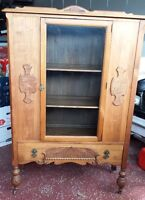 Beautiful Antique Hutch and Buffet (with Mirror)