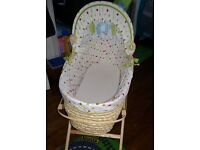 Moses basket plus extras
