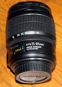 CANON 15-85mm EF-S Image Stabilized Lens 1:3.5-5.6