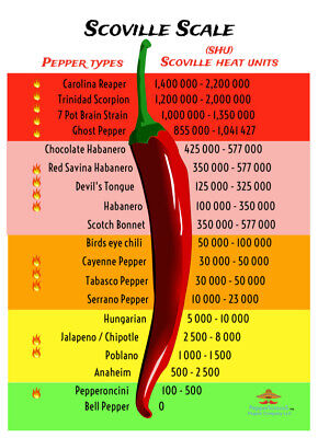 20 DRIED CAROLINA REAPER PEPPER PODS - WORLDS HOTTEST CHILI - with SEEDS