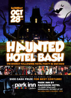 BROCKVILLE INVITE TO HAUNTED HOTEL BASH