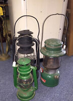 VINTAGE METAL LANTERNS COLEMAN MISSISSAUGA COLLECTIBLES