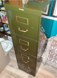Army Green Filing Cabinet
