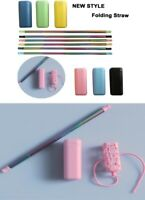 Steel Foldable Drinking Straws 6 Colours 10.00