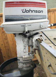 1980 Johnson 25HP SeaHorse Outboard Long Leg/Shaft