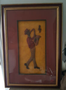 3D WALL SCULPTURE PAINTING OF THE SAX MAN