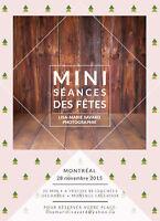 Mini séance des fêtes en studio - Samedi 28 novembre seulement!