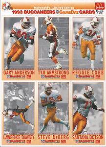 LIMITED EDITION 1993 NFL BUCCANEERS GAMEDAY