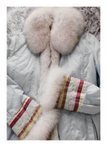 Hiliary Radley  down jacket with fur.