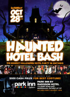 KINGSTON INVITE TO HAUNTED HOTEL BASH