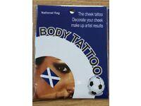 Scotland flag temporary tattoo