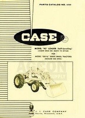Case 42 Loader Parts Catalog Manual Fits 530 Sl Tractor