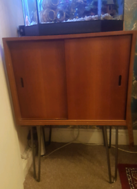 Vintage Records Unit on Hairpin legs