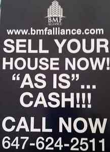 """WE BUY HOMES FOR CASH """" AS IS """" TODAY"""