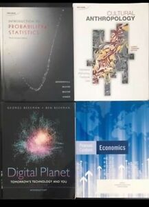 Anthro, Computer Science, and Math Textbooks