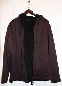 Mens -  Hooded Zipper Sweater - Size Large