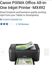 Brand new Canon Pixma 492 printer