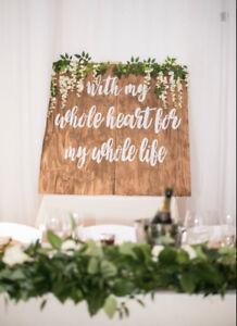Wedding decor backdrop