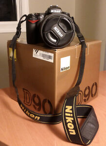 Selling my Nikon D90 DSLR with following Lens kit and flash