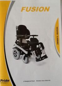 FUSION POWER CHAIR..greatly reduced..moving home.