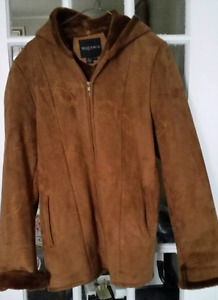 Brown/Rust Faux Suede Jacket...Size Medium
