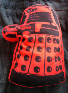 Doctor Who Red Dalek Talking Pillow