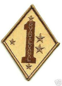 GULF-WAR-COLLECTION-USMC-1ST-MARINE-DIVISION-THEATER-CUSTOM-MADE-DESERT-DD-PATCH