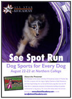 Dog Sport Seminar - Coming to Northern College August 22-23!
