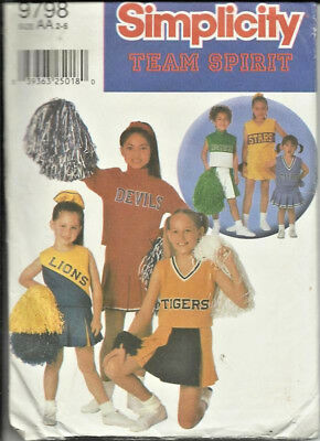 PATTERN TO MAKE GIRL'S CHEERLEADER OUTFIT-SIZE 2-6-NEW