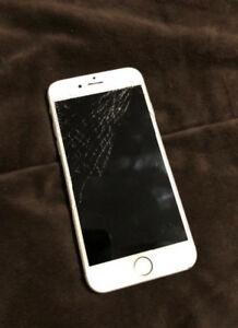 iPhone 6s (64gb)(cracked screen)