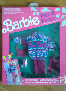 """Barbie """"Pret a Porter"""" collectible fashion from 1992 mint in box Kitchener / Waterloo Kitchener Area image 1"""