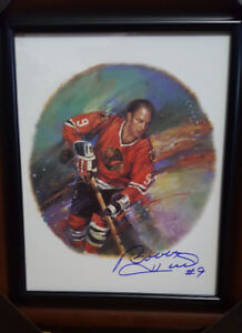 Rare Canada Post NHL 11 ×14 signed by Hockey Hall of fame player