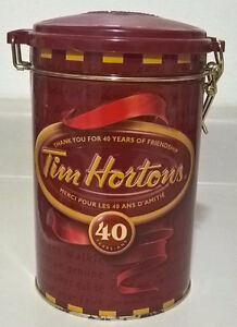 Tim Horton's Collectible Limited Edition Coffee Tin