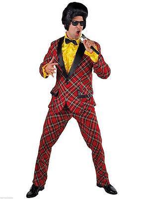 Disco Anzug Kostüm Herren 50er 60er Jahre Hippie Smoking Rock n Roll - Smoking Anzug Kostüm
