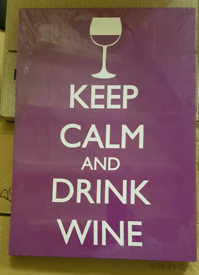 Keep Calm Purple Canvas Print - NEW