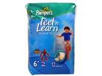 PAMPERS FEEL N LEARN POTTY TRAINING PANTS SIZE 6 (72 PANTS)