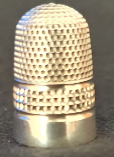 Antique English Sterling Silver Thimble by Charles Horner Hallmarked 1904