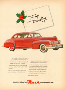 "1947 large (10"" x 14"") full-page magazine ad,  Nash Automobiles"