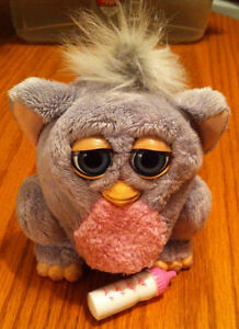 2005 FURBY BABY Hasbro / Tiger  comes with baby bottle