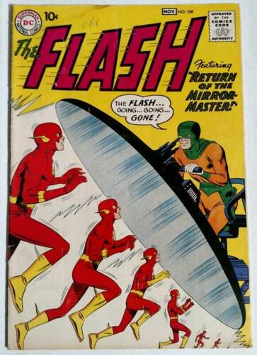 The Flash Vol, 1 #109 2nd Appearance of Mirror Master 1959 DC Comics