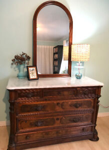 MOVING, MUST SELL!  ANTIQUE DRESSER & WASHSTAND