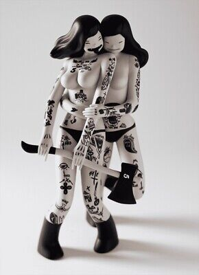 "Kid Robot Les Viandardes, 10"" Figure Rock n Roll Twins, Artist: Mcbess Mint"