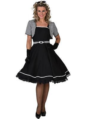 50er Jahre Kleid Kostüm Rock 'n Roll Petticoat Boogie Woogie Rockabilly Polka