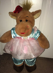Build A Bear Holly Moose Plush with Cabbage Patch Dress