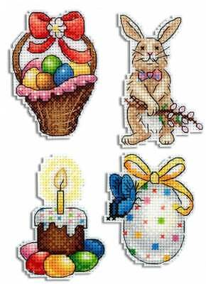 - Counted Cross Stitch Kit MP STUDIO - Easter joy. Magnets