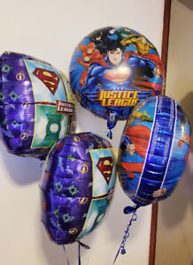 Four justice League Helium Balloons - $12