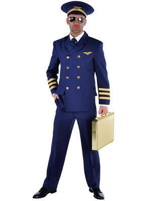 Flugkapitän Flug Kapitän Jet Pilot Pilotenkostüm Anzug Kostüm Uniform - Flugkapitän Kostüm
